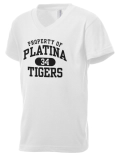Platina Elementary School Tigers Kid's V-Neck Jersey T-Shirt
