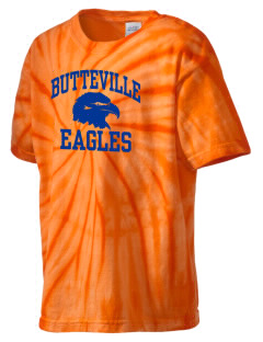 Butteville Union Elementary School Eagles Kid's Tie-Dye T-Shirt