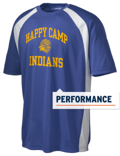 Happy Camp High School Indians Men's Dry Zone Colorblock T-Shirt