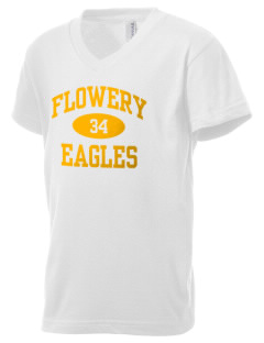 Flowery Elementary School Eagles Kid's V-Neck Jersey T-Shirt