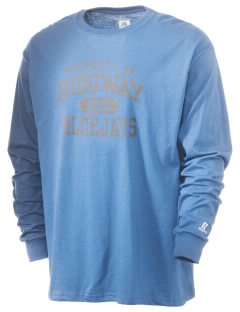 Ridgway School Bluejays  Russell Men's Long Sleeve T-Shirt