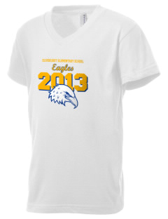 Olivehurst Elementary School Eagles Kid's V-Neck Jersey T-Shirt