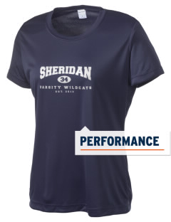 Sheridan Middle School Wildcats Women's Competitor Performance T-Shirt