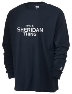 Sheridan Middle School Wildcats  Russell Men's Long Sleeve T-Shirt