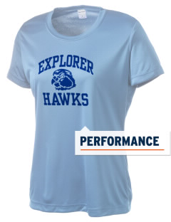Explorer Elementary School Hawks Women's Competitor Performance T-Shirt