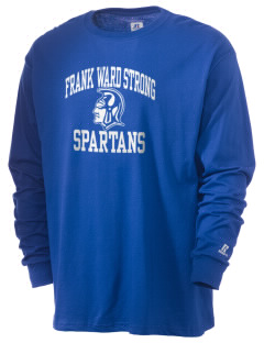 Frank Ward Strong Middle School Spartans  Russell Men's Long Sleeve T-Shirt