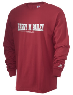 Harry M Bailey Middle School Eagles  Russell Men's Long Sleeve T-Shirt