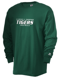 Clarence E Thompson Elementary School Tigers  Russell Men's Long Sleeve T-Shirt