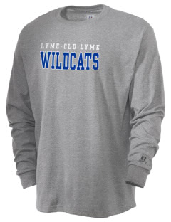 Lyme-Old Lyme Middle School Wildcats  Russell Men's Long Sleeve T-Shirt