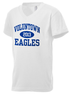 Voluntown Elementary School Eagles Kid's V-Neck Jersey T-Shirt