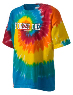 Forest Oak Elementary School Panthers Kid's Tie-Dye T-Shirt