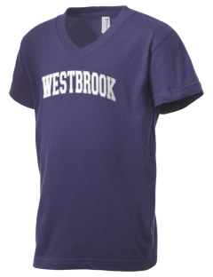 Westbrook High School Blue Blazes Kid's V-Neck Jersey T-Shirt