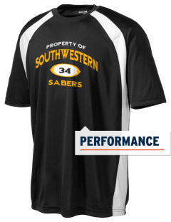 Southwestern High School Sabers Men's Dry Zone Colorblock T-Shirt
