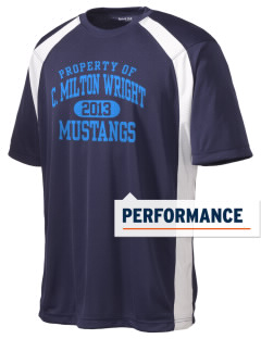 C Milton Wright High School Mustangs Men's Dry Zone Colorblock T-Shirt