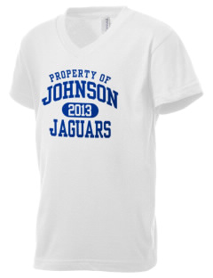 Johnson Elementary School Jaguars Kid's V-Neck Jersey T-Shirt