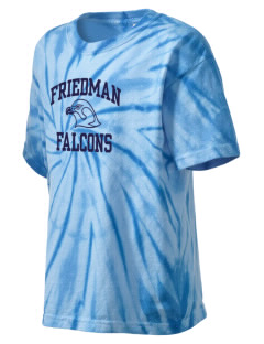 Friedman Middle School Falcons Kid's Tie-Dye T-Shirt