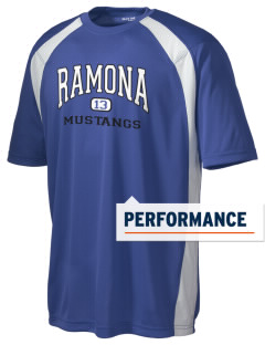 Ramona Elementary School Mustangs Men's Dry Zone Colorblock T-Shirt