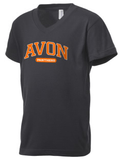 Avon Middle High School Panthers Kid's V-Neck Jersey T-Shirt