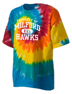 Milford High School Hawks Kid's Tie-Dye T-Shirt