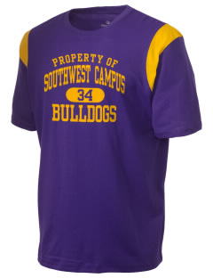 Southwest Community Campus Bulldogs Holloway Men's Rush T-Shirt