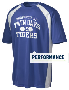 Twin Oaks High School Tiger Men's Dry Zone Colorblock T-Shirt
