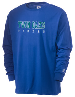 Twin Oaks High School Tiger  Russell Men's Long Sleeve T-Shirt