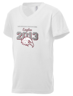 Lake Arrowhead Christian School Eagles Kid's V-Neck Jersey T-Shirt