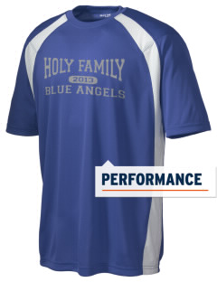 Holy Family Catholic School Blue Angels Men's Dry Zone Colorblock T-Shirt