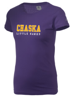Chaska Elementary School Little Hawks  Russell Women's Campus T-Shirt