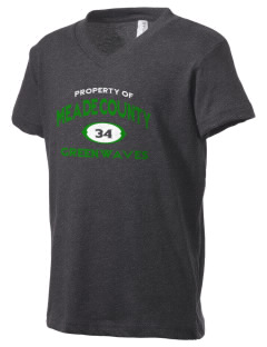 Meade County High School Greenwaves Kid's V-Neck Jersey T-Shirt