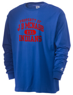J B McNabb Middle School Indians  Russell Men's Long Sleeve T-Shirt