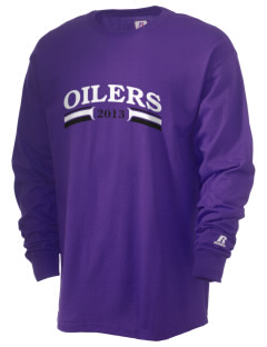 Mooringsport Elementary School Oilers  Russell Men's Long Sleeve T-Shirt