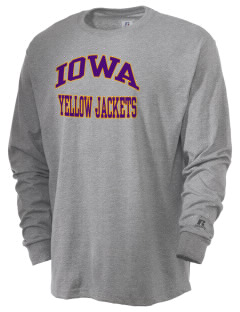Iowa High School Yellow Jackets  Russell Men's Long Sleeve T-Shirt