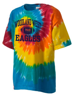 Woodland West Elementary School Eagles Kid's Tie-Dye T-Shirt