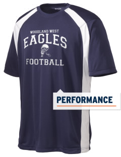 Woodland West Elementary School Eagles Men's Dry Zone Colorblock T-Shirt