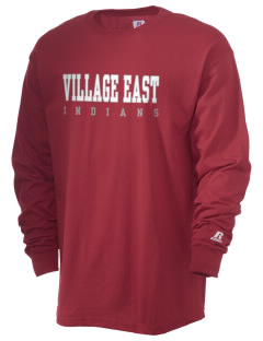 Village East School Indians  Russell Men's Long Sleeve T-Shirt