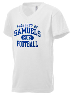 Samuels Elementary School Eagles Kid's V-Neck Jersey T-Shirt