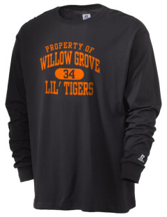 Willow Grove Elementary School Lil' Tigers  Russell Men's Long Sleeve T-Shirt