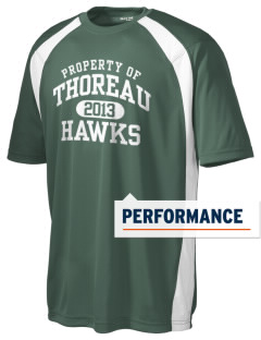 Thoreau High School Hawks Men's Dry Zone Colorblock T-Shirt