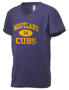 Waveland Elementary School Cubs Kid's V-Neck Jersey T-Shirt