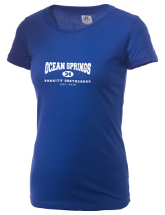 Ocean Springs High School Greyhounds  Russell Women's Campus T-Shirt