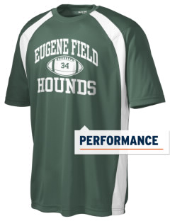 Eugene Field Elementary School Hounds Men's Dry Zone Colorblock T-Shirt