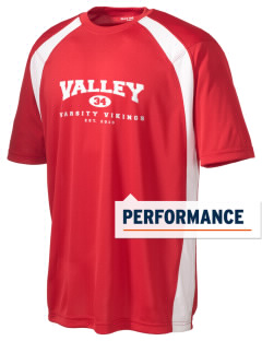 Valley High School Vikings Men's Dry Zone Colorblock T-Shirt