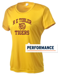R E Tobler Elementary School Tigers Women's Competitor Performance T-Shirt