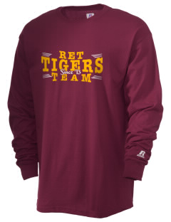 R E Tobler Elementary School Tigers  Russell Men's Long Sleeve T-Shirt