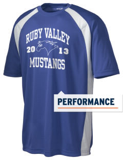 Ruby Valley Elementary School Mustangs Men's Dry Zone Colorblock T-Shirt