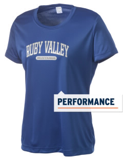 Ruby Valley Elementary School Mustangs Women's Competitor Performance T-Shirt