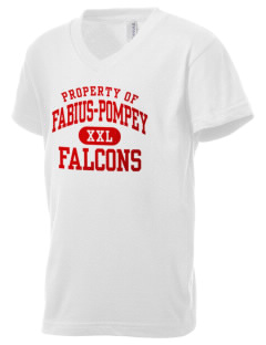 Fabius-Pompey MiddleHigh School Falcons Kid's V-Neck Jersey T-Shirt