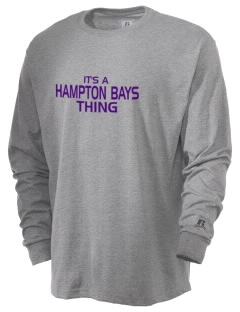 Hampton Bays Secondary School Baymen  Russell Men's Long Sleeve T-Shirt