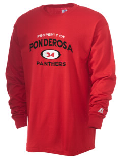 Ponderosa Elementary School Panthers  Russell Men's Long Sleeve T-Shirt